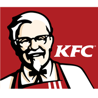 new KFC Logo. Stylized image of Colonel Sanders.