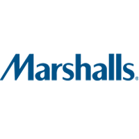 Marshalls logo. Marshalls sells clothing at discount offerings.